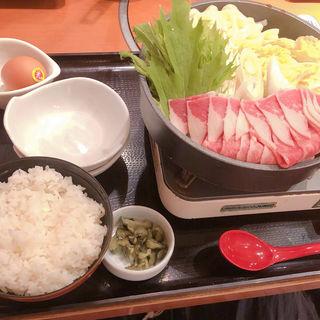 牛すきうどん鍋定食(和食さと明石朝霧店  )