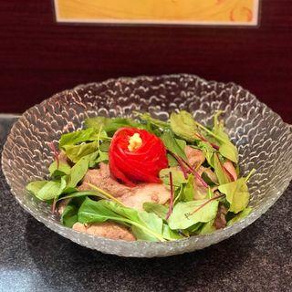 肉ひやし2018(烈志笑魚油 麺香房 三く)
