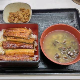鰻と牛皿(吉野家 足立保木間店 )