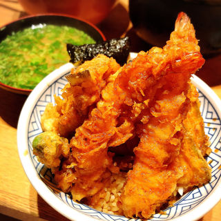 天丼 竹 味噌汁付き(天丼 金子屋 赤坂店 )