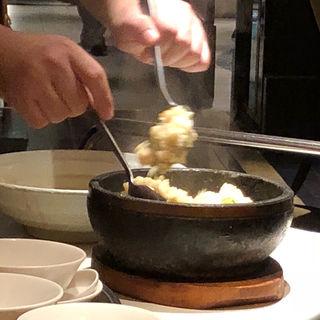 海鮮あんかけ石鍋炒飯(水蓮月 (ロータスムーン))
