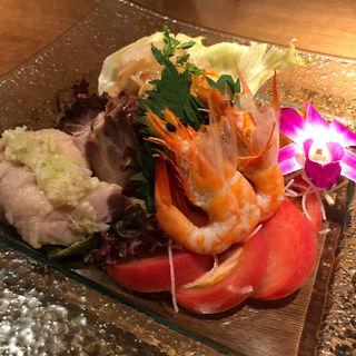 前菜四種盛り合わせ(水蓮月 (ロータスムーン))