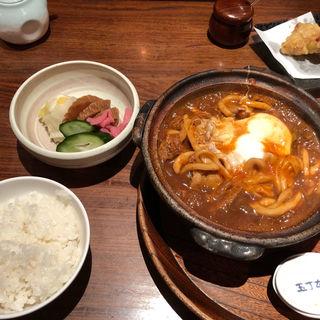 味噌煮込みうどんご飯・おしんこセット(玉丁本店 八重洲店 (たまちょうほんてん))