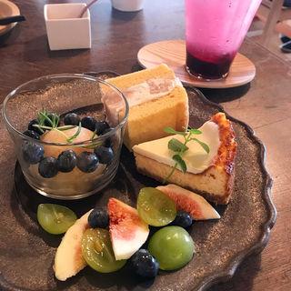 ハルイロプレート(お茶とお菓子春色)