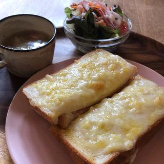 クロックムッシュセット(cafe&gallery hobitto)