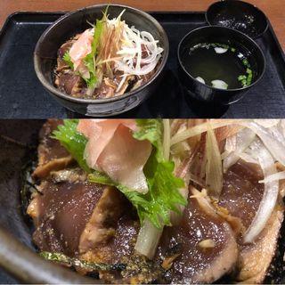 藁焼きカツオのたたき丼(湯快爽快 「湯けむり横丁」 みはま )