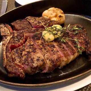 Dry-aged Prime T-bone steak(2名様用)(BLT STEAK GINZA (ビーエルティーステーキ ギンザ))