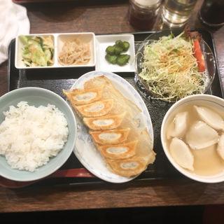 焼き餃子水餃子定食(典満餃子 (テンマンギョウザ))