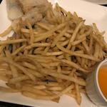 塩昆布フライドポテトと海鮮揚春巻き