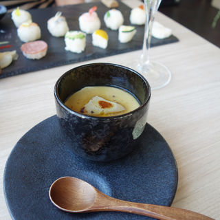 フォアグラ茶碗蒸し 黒トリュフあんかけ(IZAKAYA New Style(イザカヤニュースタイル))