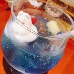 ムーミンマシュマロフルーツソーダ(ムーミンハウスカフェ 東京スカイツリータウン・ソラマチ店 )