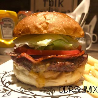 Bacon Cheese Burger ベーコンチーズバーガー(folk burgers&beers)