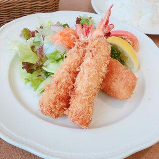 海老フライと蟹クリームコロッケ(神戸洋食キッチン (コウベヨウショクキッチン))
