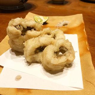 ハモの天ぷら(りょうりや 御旅屋 )