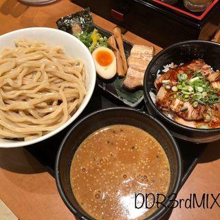 合わせ味噌つけ麺 炙り焼豚丼セット(ラーメン春樹 宇都宮店)