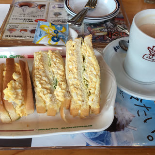 たまごトーストサンド(コメダ珈琲店 宇都宮下戸祭店 )