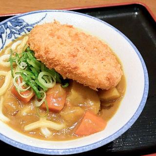 コロッケカレーうどん(カレーうどん+コロッケ)