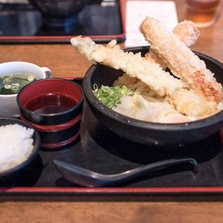 穴子天ぶっかけ+ちくわ天(讃岐屋 平和大通り店 )