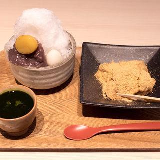 わらび餅セット(茶房つるや )