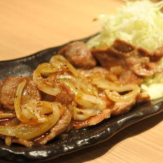 薄切りロマン亭生姜焼き定食(大坂豚汁・生姜焼き ロマン亭)