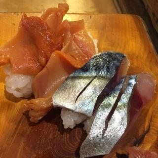 握り サバ 赤貝(いさ美寿司 )