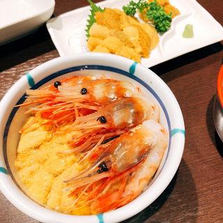 うに・えび丼(ミニ)(きくよ食堂)