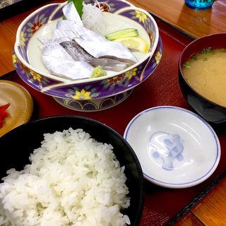 タチウオ刺身定食(竹野鮮魚 )