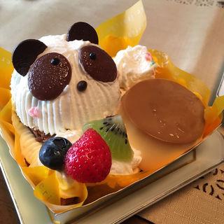 かわいいパンダちゃんのプリンアラモード(シャトレーゼ 一之江店 (Chateraise))