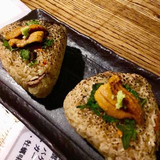 雲丹牡蠣おにぎり(牡蠣とシャンパン 牡蠣ベロ)