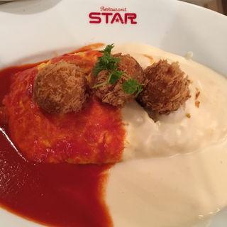 カニクリームコロッケオムライス(レストラン スター 京極店 (Restaurant STAR))