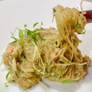 毛蟹カッペリーニ(冷製)(カフェ・グラス・スリーズ)