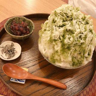 抹茶ミルク(かき氷cafe さざん)