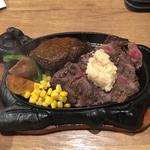 牛リブロースステーキ&ハンバーグ