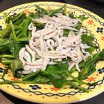 空心菜とシラス