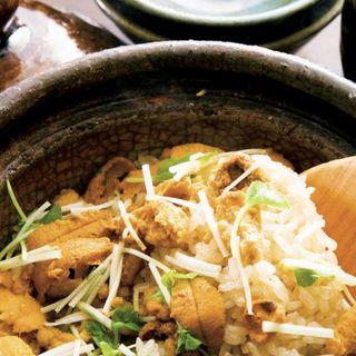 土鍋ご飯(うに・写真は2人前)(和の食 いがらし)