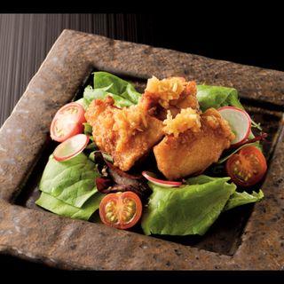 筑波鶏の唐揚げサラダ仕立て