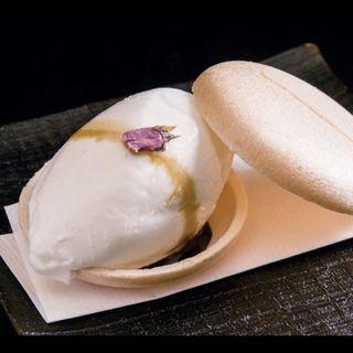 【甘味】酒粕のアイス(ぎんざ 一二岐 (ぎんざ いぶき))