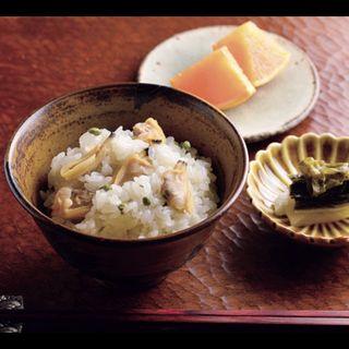 食事コース(季節の炊き込みご飯、漬物、フルーツ)(しらたまや)