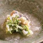 【煮物】桜鱒とふきのとうとたらの芽の煮おろし