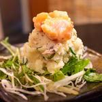 ポテトサラダ 鮭塩辛のせ