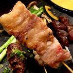 ジビエ串(黒ブタバラ肉)