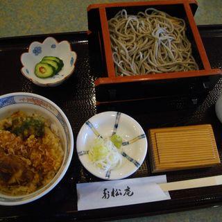 ざるそばとミニ天丼(寿松庵 本店 )