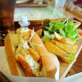 パンランチ(福井県産鮮魚特製タルタルソース)(三国湊・食の蔵 灯-TOU-)