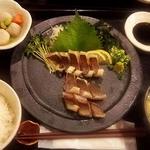 鐘崎イサキ炙り刺身定食