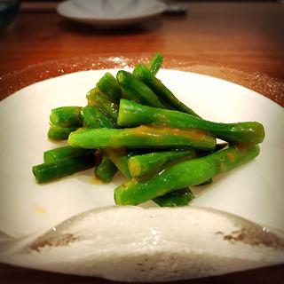 いんげん酢味噌和え(SHIRU)