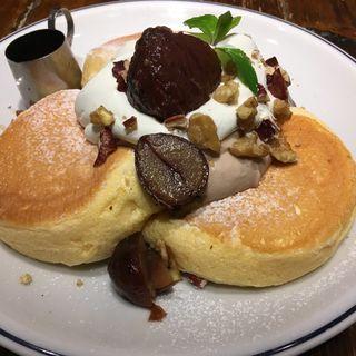 奇跡のパンケーキ マロン(ジェイエスパンケーキカフェ 下北沢店 (j.s. pancake cafe))