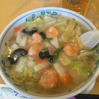 エビと野菜のあんかけラーメン(塩味)(札幌市役所 レストラン ライラック)