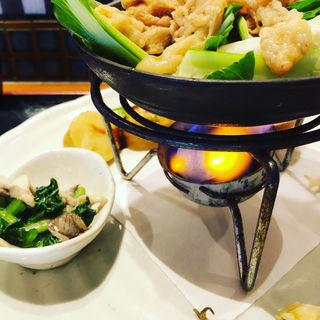 豚肉と緑豆もやしとチンゲン菜のオイスター炒め(花様 東梅田 (ka-you))