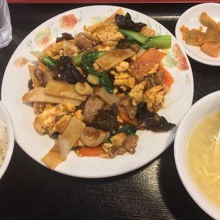 豚肉キクラゲたまご炒め(四川料理 辣妹子)