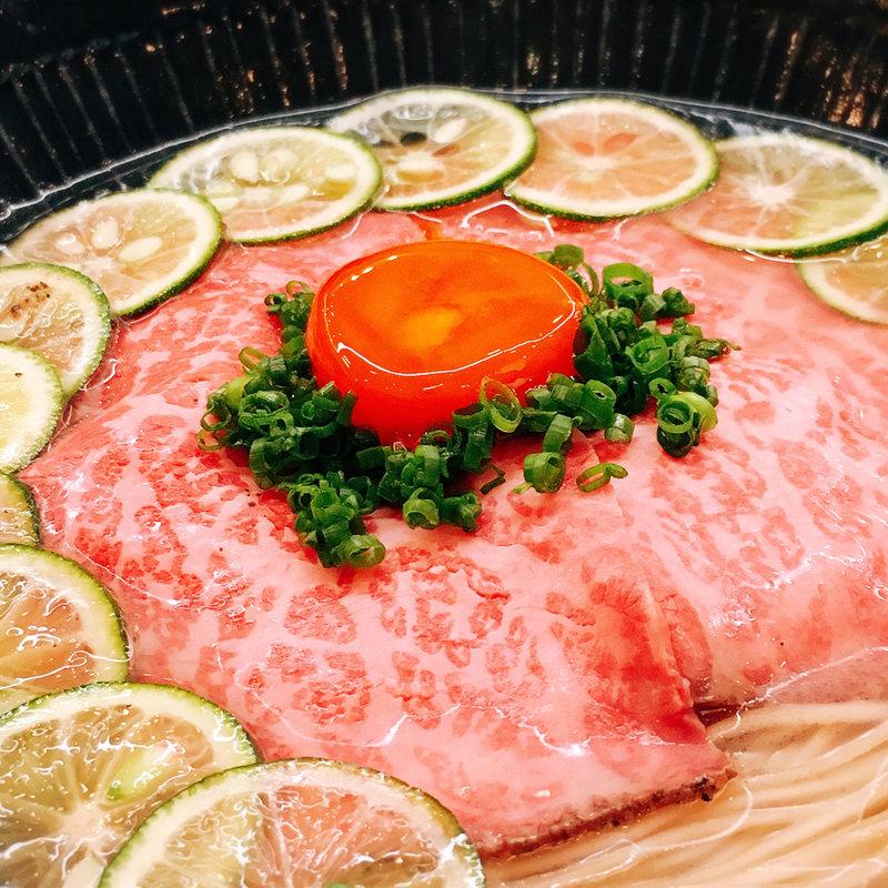 和牛酢橘そば(冷やし)